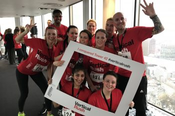 Team Coreco take part in Vertical Rush for Shelter