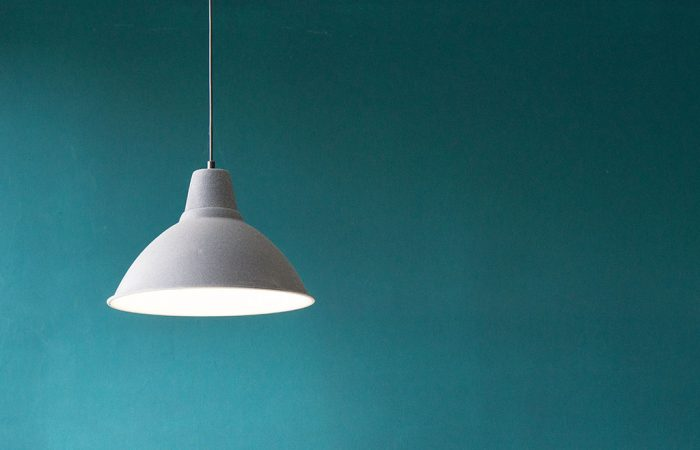 Light shade on a blue background