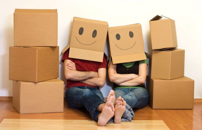 First Time Buyers Moving Boxes